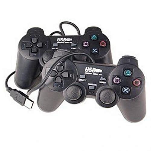 ucom usb 2.0 Dual Shock Ultimate Gamepad Controller 2pcs - Black