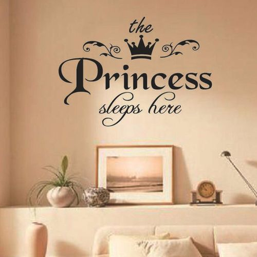 Universal DIY Removable Princess Sleeps Wall Stickers Art Vinyl - How to make vinyl decals at home