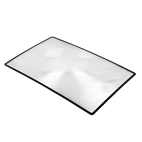 Allwin 3X PVC Magnifier Sheet Book Page Magnifying Gl Reading Magnification Device -transparent