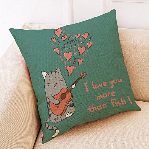 Fashion Home Decor Cushion Cover Cartoon Valentine Day Throw Pillowcase Pillow Covers
