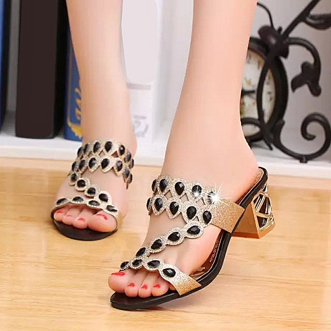 29c7b7ba9b6659 ... Blicool Shop Women Sandals Summer Fashion Women Girl Big Rhinestone  High Heel Sandals Ladies Beach Sandal ...
