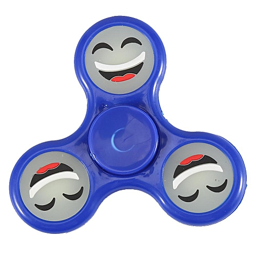 【Big Sale】1Pc Fashionable Fingertip Spinner Steel Balls Bearing Stress Relief EDC Hands Foucs Toy (Blue)