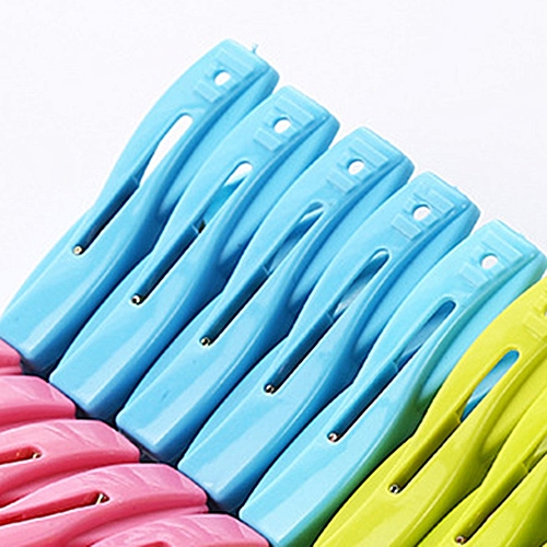 A2482 Plastic Small Clip With Storage Basket Clothes Drying Strong Windproof Underwear Socks Clothespin