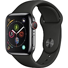 f2bafa584b4 Series 4 Watch (gps+ Cellular 44mm Space Gray Aluminum Case With Black  Sport Band
