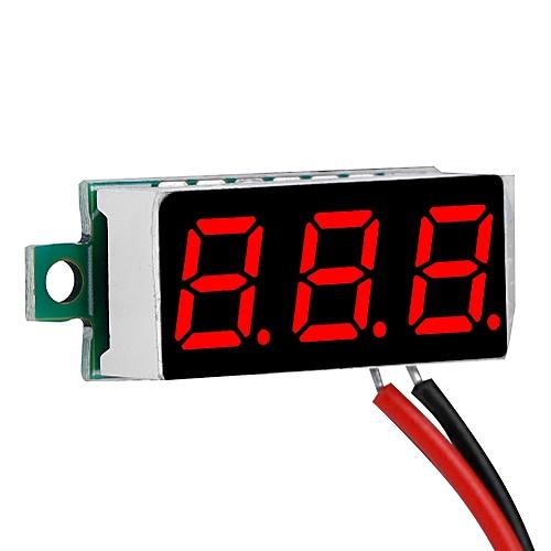 1 Pcs Digital LED Display Voltmeter 0.28 Inch Voltage Panel 3-digit DC Voltage Meter Panel 2.5-30V For Electric Bikes
