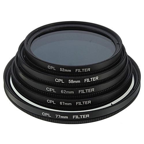 Slim CPL Circular Polarizing Polarizer Lens Filter For Canon Nikon Camera Black 58MM
