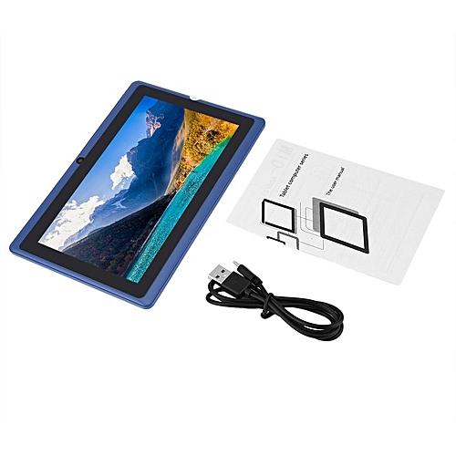 Q88 Quad-core Wifi Tablet Seven-inch USB Power Supply 512M+4G Blue Blue