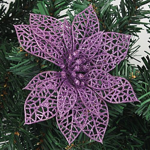 1Pcs Christmas Hollow Flowers Tree Decorations Glitter Wedding Party Decor