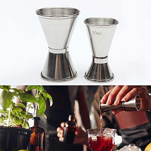 Stainless Steel Double Single Shot Measure Jigger Spirit Bar Cocktail Drink - 15/30ML