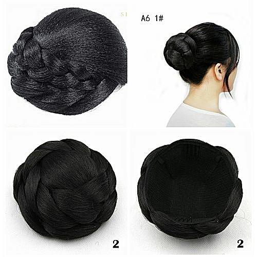 Stylish Hair Bun - Black