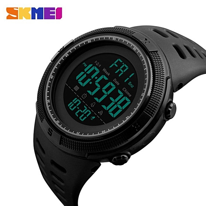 3a3f36e6c14 Men Sports Watches 50M Waterproof Watches Countdown Double Time Watch Alarm  Chrono Digital Wristwatches 1251(