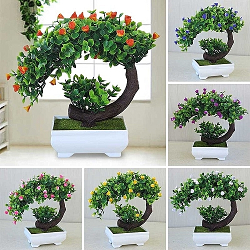 Creative Mini Bonsai Tree Artificial Plant Decoration Not Faded No Watering Potted For Office Home