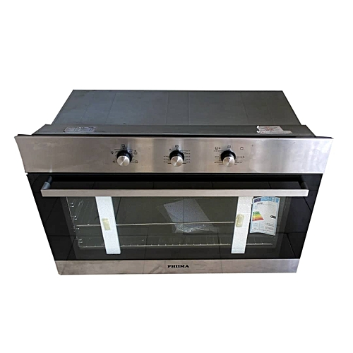 90cm Phiima Built In Electric And Gas Oven GENT 906I Stainless