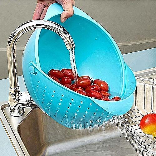 Vegetable Fruit Basket Rice Wash Sieve Washing Bowl Colander