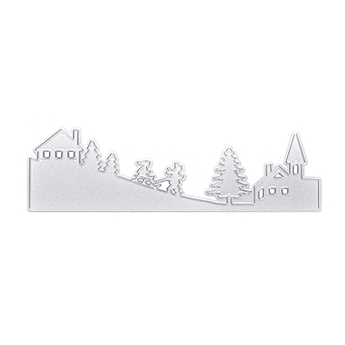 Christmas Tree House Metal Stencil Cutting Dive Embossing 3D DIY Scrapbooking Craft Photo Invitation Card Decoration