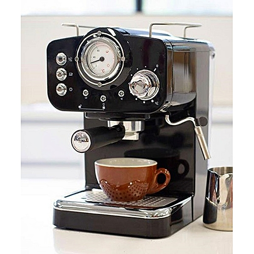 Espresso Coffee Machine - Black