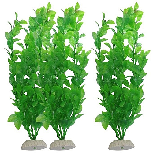Hiamok_3-Piece Aquarium Aquarium Fish Tank Plants Decorative 10.6-inch Green
