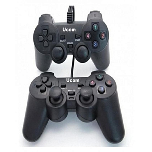 Universal ucom Double Wired pc Game Controller - Black