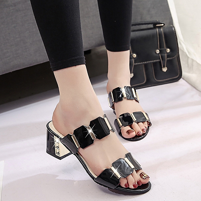 192c81ca0023 ... Bliccol High Heel Shoes Women Fish Mouth Slipper High Heels Sandals  Antiskid Toes Party Shoes Flip ...