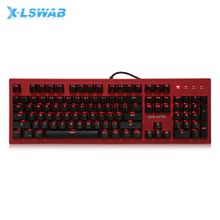 - LSWAB X780 Mechanical Keyboard For Gamers With Backlight 104 Keys - Black And Red