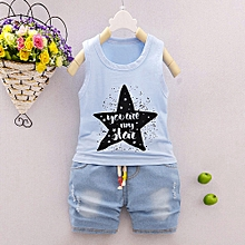 c81540398327 Baby Outfit 2Pcs Infant Baby Boys Girls Star Letter Tops Vest+Shorts  Outfits Clothes Set