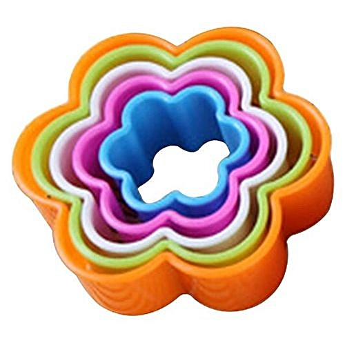Flower Fondant Cake Cookie Cutters Decor Molds Set Kitchen Supplies 5Pcs