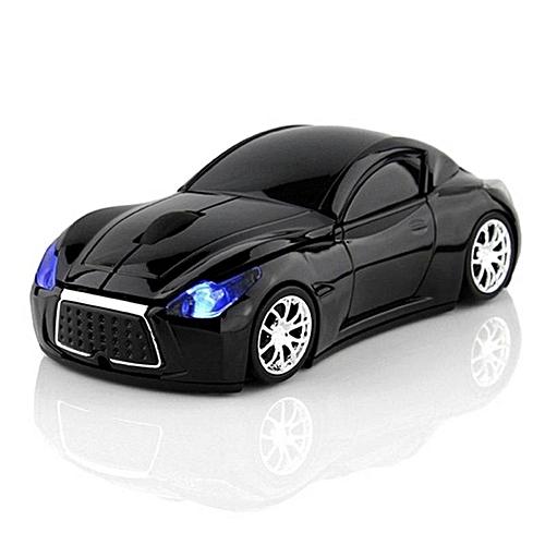 CHUYI Wireless Sport Car Mouse Optical Mouse Mice Ergonomic Design For Computer Laptop Black Color