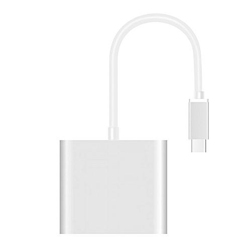 TC31 Good 1 To 3 USB3.1 Type-C Converter USB Female Type C Male Adapter Silver