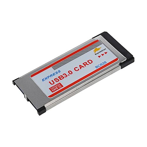 2 Port USB 3.0 Express Card Adapter Hub Cardbus For Laptop