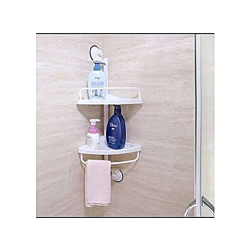 Bathroom Corner Shelf With Suction Cup