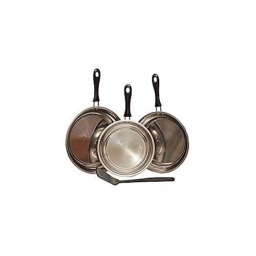 Fry Pan Set 3PC + Non Stick Spoon