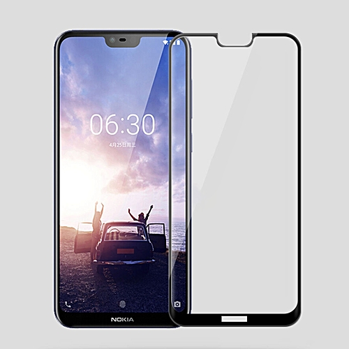 MOFI 0.3mm 9H Surface Hardness 3D Curved Edge Tempered Glass Film For Nokia X6(Black)
