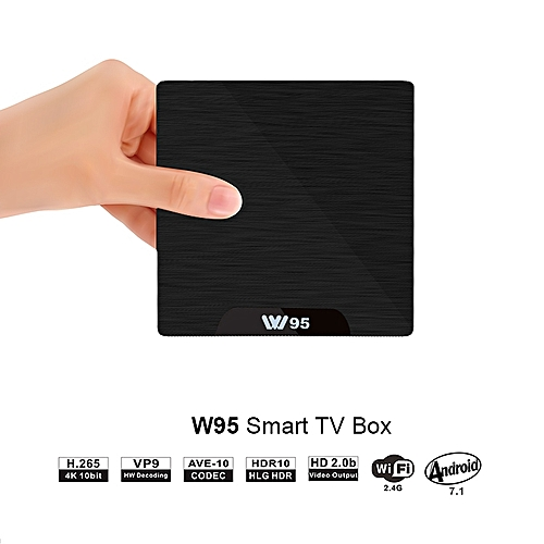 W95 Android 7.1 Amlogic S905W Quad Core 1GB+8GB Mali-450 Penta Core GPU 4K WIFI Smart TV BOX With LED Indicator EU