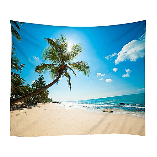 Sunrise Sunset Beach Ocean Wall Hanging Decor Tapestry Bedspread Throw Mat Cover