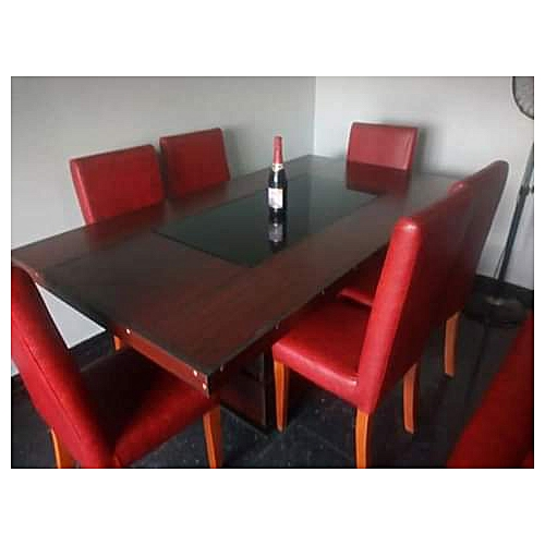 Alechis Leather Dinning Sets(4 Chairs)-Free Lagos Delivery