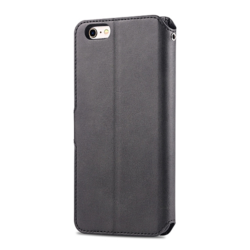 New Unisex Black Synthetic Leather Silicone Patchwork Card Slot Soft Case Cover For 5.5inch Apple IPhone6 Plus-Black
