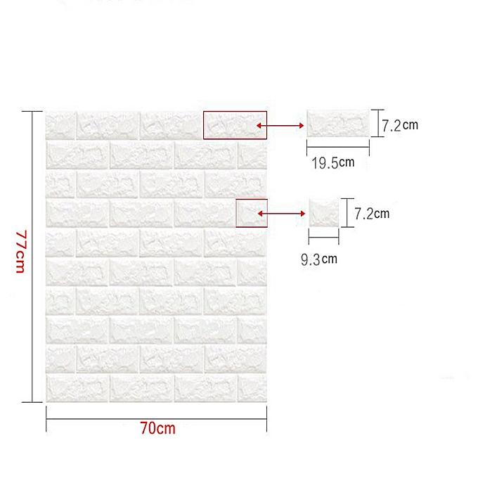 Generic Pe Foam 3d Sticker Self Adhesive Wallpaper White Extra