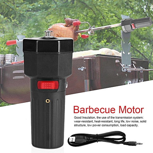 5V Solid Construction Barbecue Grill Rotator Motor BBQ Holder Roast Bracket With USB Boost Wire
