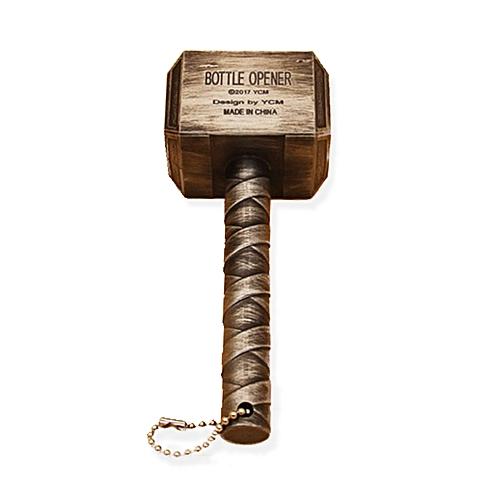 Multifunction Hammer Of Thor Shaped Beer Bottle Opener-Gold