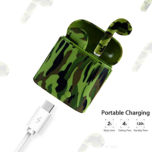 Bluetooth Ear Pods Earbuds Headphones Stereo TWS I7s In-Ear Earpieces Earphones Noise Cancelling With Charging Case A-HSL