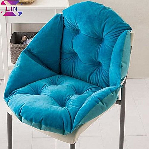 Soft Seat Cushion Back Cushion Surrounded By Lovely Office Chair Shell Cushion--SKY BLUE