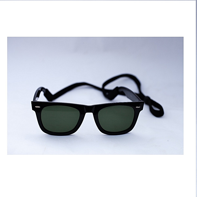 3c825f0481 Fashion Classic Wayfarer Style Sunglasses With Black Cord