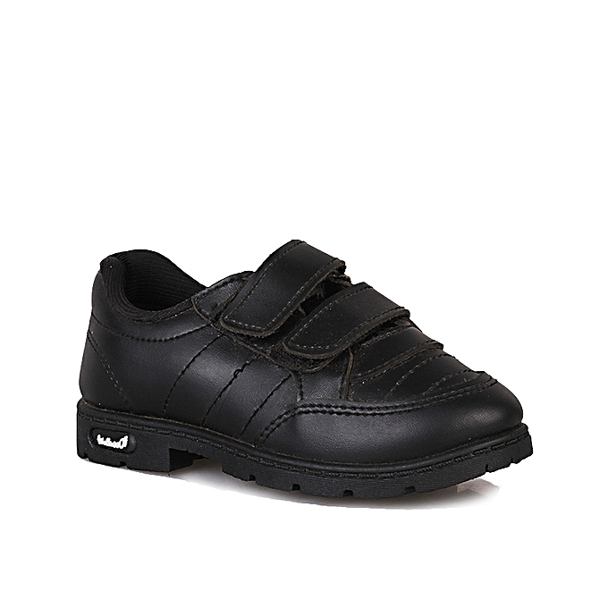 2f220cd98 Walkaroo Boys Double Velcro School Shoe - Black   Jumia NG