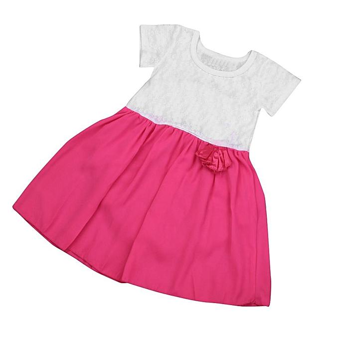 8f6a0fffd3d Kids Baby Girls Summer Party Princess Dress Cute Lace Children Clothes  Outfits Musiccool