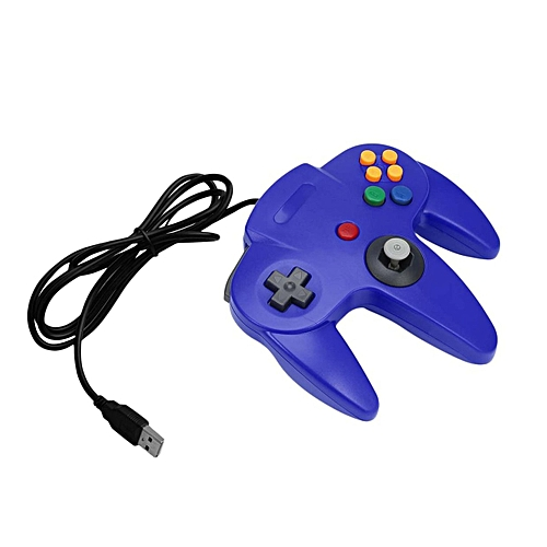 OR Good USB Wired Gaming Gamer Gamepad Computer PC Controller-blue