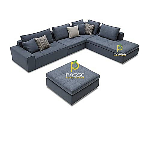 Passc 5 Seater L-Shape Sofa Order And Get A Free Center Ottoman Delivery To Lagos State Only