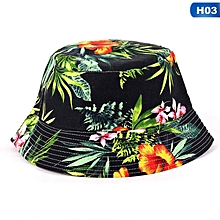 d9e7c7a1ad6288 Floral Bucket Hat Beanie Flat Hunting Fishing Cap For Outdoor Summer Sun Hat