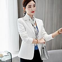 94652df82917c Women Slim Full Sleeve Small Suit Lapel Collar Office Jacket