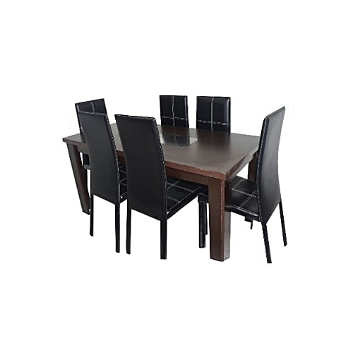 Dining Table And Dining Chair - 6 Seater Set Suprise Free Gift Included(Delivery Within Lagos & Ogun Only)