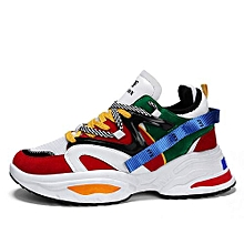 8c2f43498 Mens Fashion Sneakers Multicolor Sports Shoes Red/Multicolor